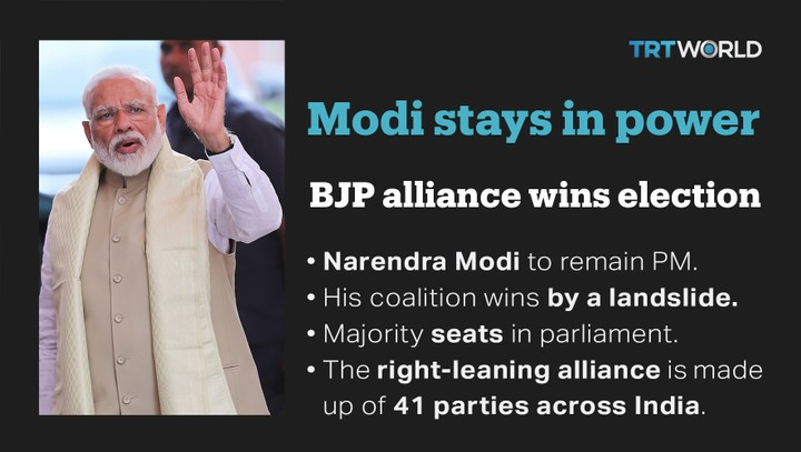 Modi claims India election victory