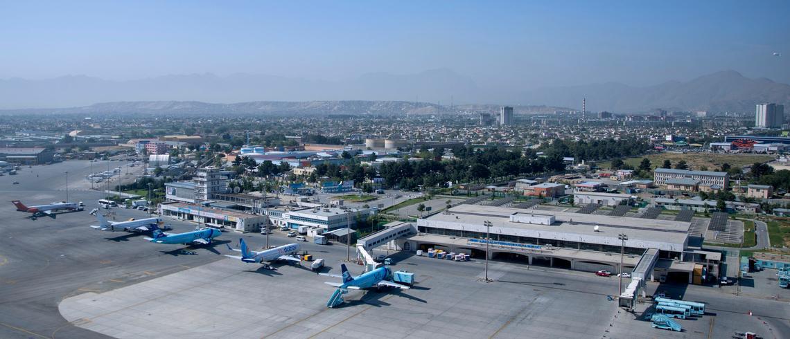 Kabul International Airport a few months ago.