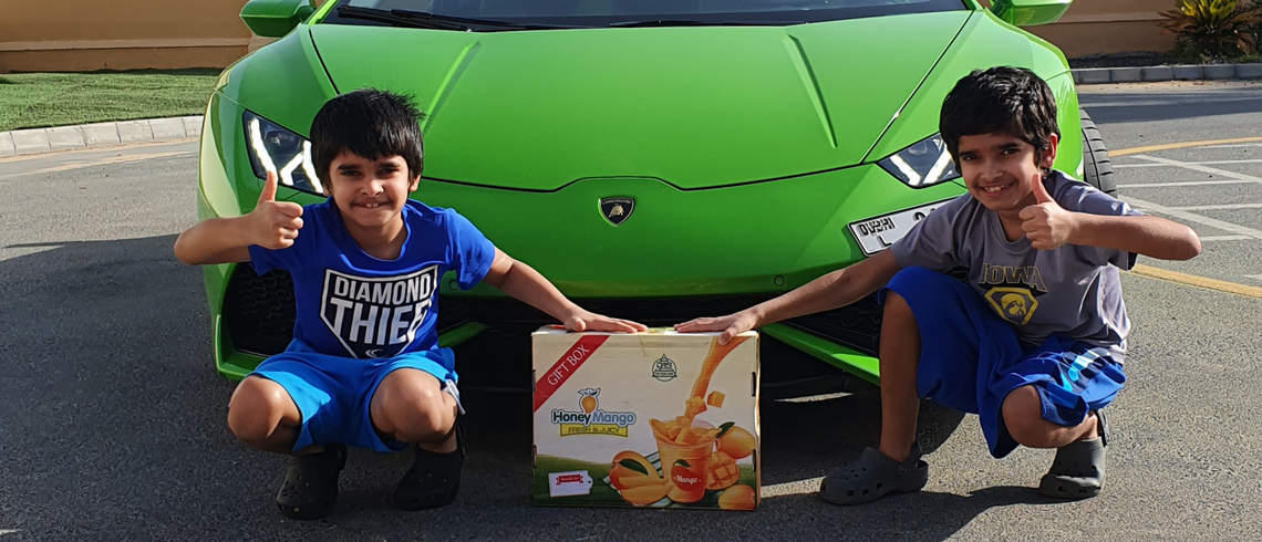 Delivered In Style Mango In A Lambo