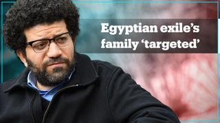 Egyptian exile says regime is 'targeting' his family