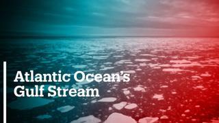 Atlantic Ocean Gulf stream extremely weak