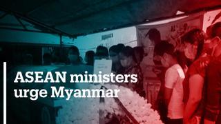 ASEAN ministers urge Myanmar junta to release detained leaders