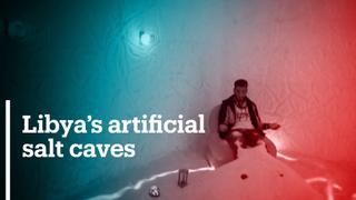 Libya's artificial salt caves promise pain relief