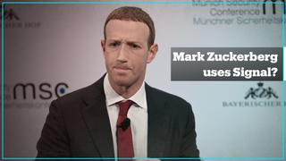 Does Mark Zuckerberg use Signal?