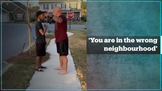 'You are in the wrong neighbourhood': US soldier arrested for shoving Black man