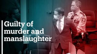 Derek Chauvin found guilty of murder and manslaughter