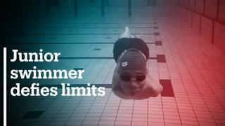 Junior Bosnian swimmer defies limits