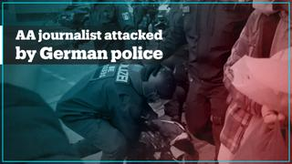 Turkish journalist filming May Day violence was attacked by German Police