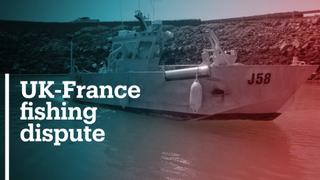 British and French gunboats in standoff over fishing rights