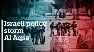 Hundreds wounded as Israeli police storm Al Aqsa mosque