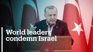 World leaders condemn Israeli violence