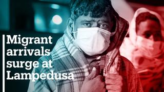 Migrant arrivals surge at Lampedusa