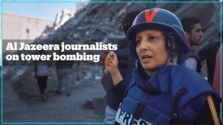 Journalists in Gaza condemn Israeli attack on media building