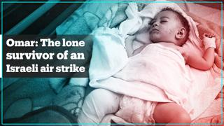 5-month-old Palestinian boy is the lone survivor of an Israeli air strike