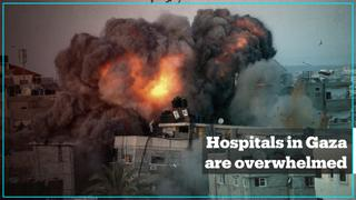 Hospitals in Gaza overwhelmed by the numbers of injured and killed