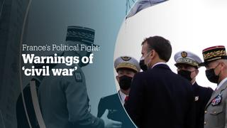 France's right wing: Warnings of 'civil war'