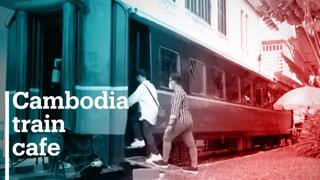 Cambodia train cafe becomes selfie hotspot