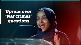 Ilhan Omar's 'war crimes' questions spark anger in the US Congress