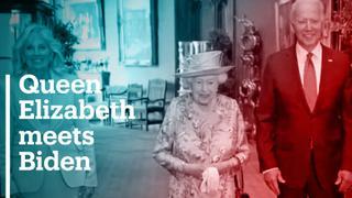 Queen Elizabeth meets Joe Biden at Windsor Castle