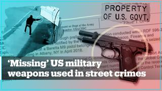 US military guns are vanishing and being used in street crimes