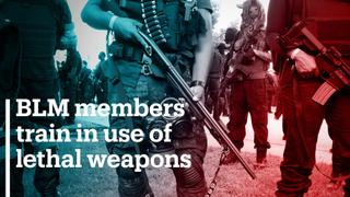 BLM members train in use of lethal weapons