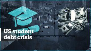 Growing student debt crisis in the US