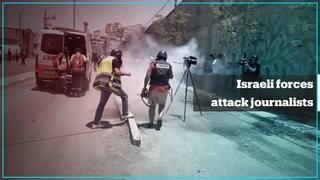 Israeli forces attack journalists during a protest in West Bank