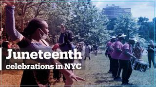 New Yorkers celebrate Juneteenth