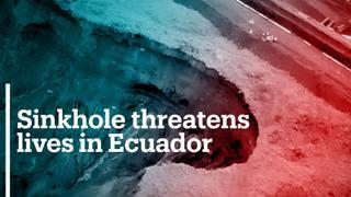 Expanding sinkhole threatens lives in Ecuadorian Amazonia