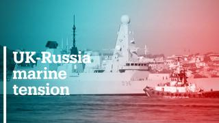 Russia says UK ship left Russian waters after shots fired
