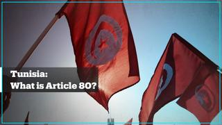 What is Article 80 of the Tunisian Constitution?