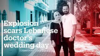 Port explosion scars Lebanese doctor's wedding day
