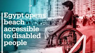 Egypt opens beach accessible to disabled people