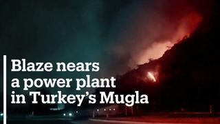 Wildfires spread near power plant in Turkey's Mugla