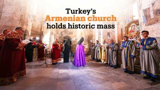 Armenians in Turkey hold historic mass in Akdamar Holy Cross Church