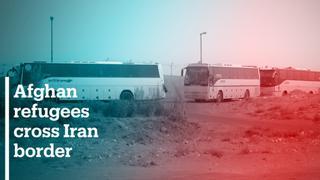 More Afghan refugees cross Iran border