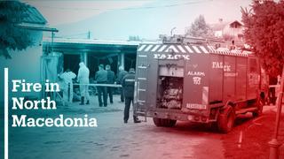 Fire rips through North Macedonia COVID-19 ward