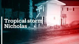 Tropical Storm Nicholas makes landfall in Texas