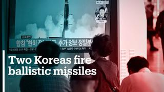 Both North and South Korea test-fire ballistic missiles