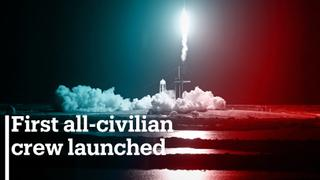 First all-civilian crew launched to orbit aboard SpaceX rocket ship