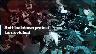 Anti-lockdown protest in Melbourne turns violent