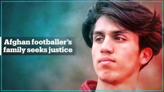 Afghan family seeks justice for footballer son who fell from US plane