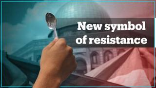 Spoons become new symbol of Palestinian freedom