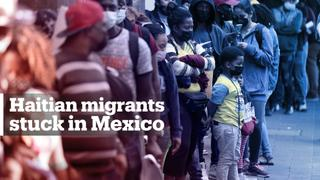 Mexico detains Haitian migrants sent back from US border