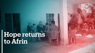 Kurdish families return to Afrin
