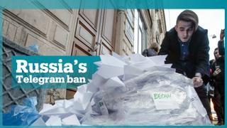Russians protest Telegram ban