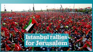 Istanbul residents rally to support Jerusalem