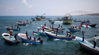 Gaza Flotilla: Boats launched from Gaza challenge blockade