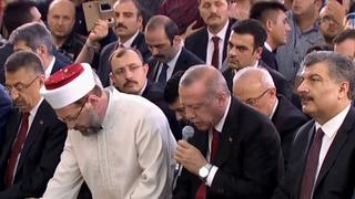 A Night of Defiance: Erdogan attends prayers at presidential complex