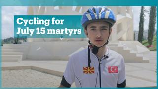 Boy cycles 800 km to honour July 15 martyrs
